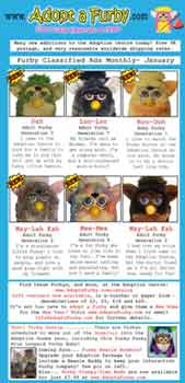 Furby Classified Ads - January  2006